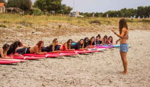 Girls surf camps